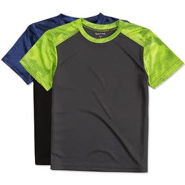 Sport-Tek Youth CamoHex Colorblock Performance Shirt
