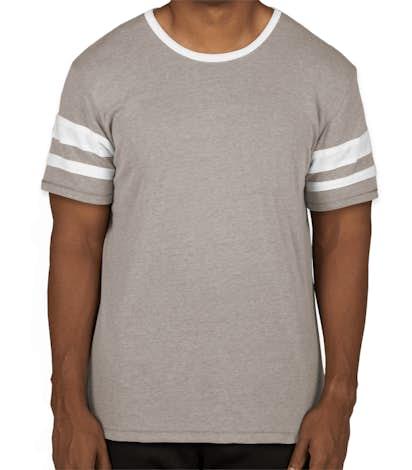 Alternative Apparel Varsity T-Shirt - Smoke / White