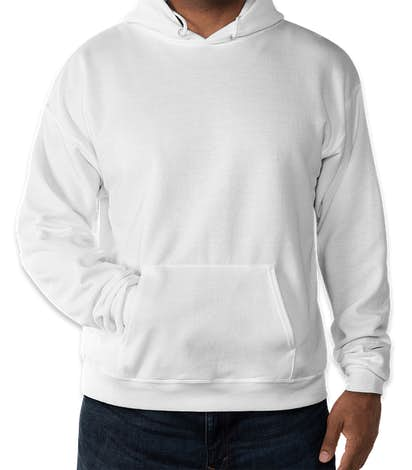 Hanes EcoSmart 50/50 Pullover Hoodie - White