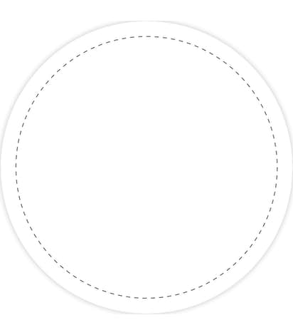 Full Color 2.5 in. Circle Magnet - White