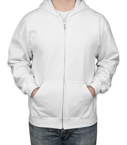 c83fcf01 Design Custom Printed Gildan Zip Front Hoodies Online at CustomInk