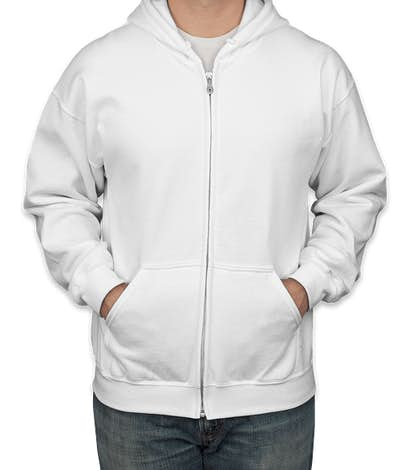 Canada - Gildan Midweight Zip Hoodie - White