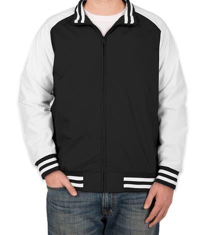 Team 365 Varsity Jacket - Black / White