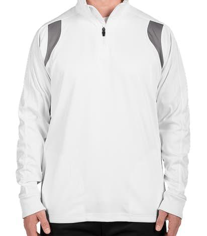Team 365 Quarter Zip Performance Pullover - White / Sport Graphite