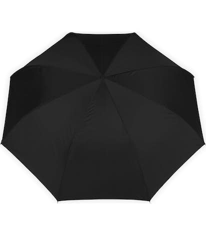 "48"" Inverted Double Layer Umbrella with C Handle - Black"