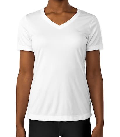 Sport-Tek Women's Competitor V-Neck Performance Shirt - White
