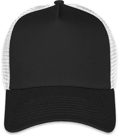 New Era 9FORTY Snapback Trucker Hat - Black / White