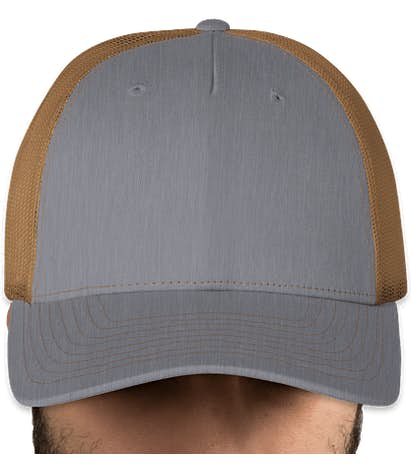 Canada - Richardson Five-Panel Snapback Trucker Hat - Heather Grey / Amber Gold