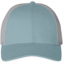 Richardson Low Profile Trucker Hat - Color: Smoke Blue / Aluminum