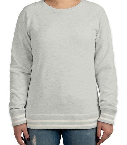 J. America Women's Varsity Crewneck Sweatshirt - Ash