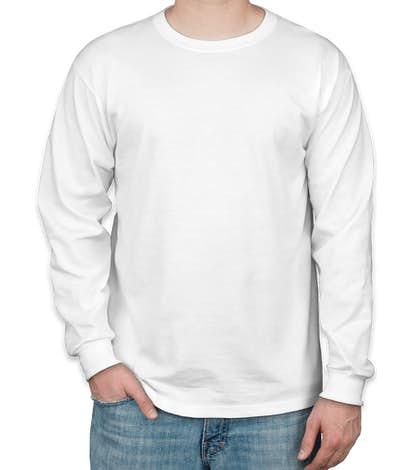 Jerzees 50/50 Long Sleeve T-shirt - White