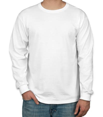 Canada - Jerzees 50/50 Long Sleeve T-shirt - White