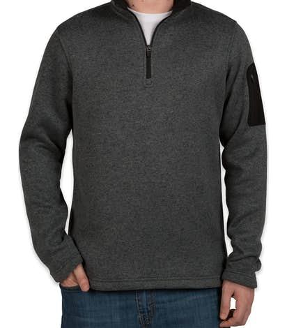 Charles River Quarter Zip Sweater Fleece Pullover - Charcoal Heather