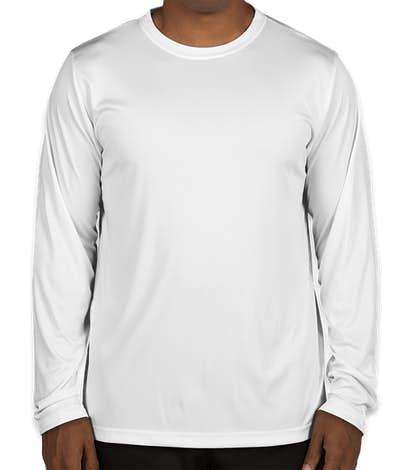 Canada - Team 365 Zone Long Sleeve Performance Shirt - White