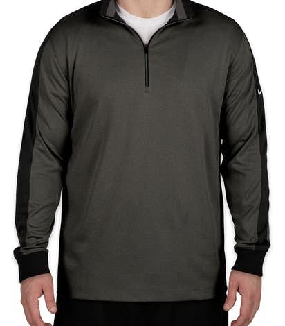 Nike Golf Dri-FIT Half Zip Performance Pullover - Anthracite Heather / Black