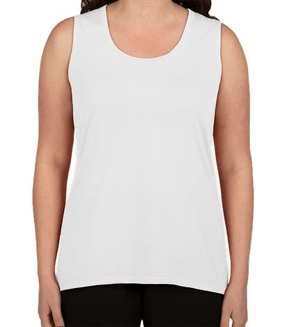 Anvil Women's Freedom Muscle Tank - White