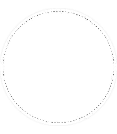 "Full Color 12"" Circle Floor Decal - White"
