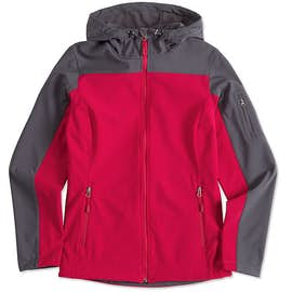 Port Authority Women's Contrast Hooded Soft Shell Jacket