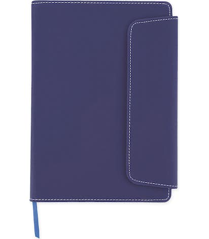 Smooth Matte Magnetic Close Notebook - Blue