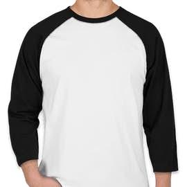 LAT Baseball Raglan - Color: White / Black