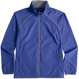 Elevate Women's Egmont Packable Contrast Zipper Windbreaker