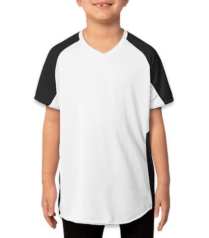 Augusta Youth Girls Cutter Jersey - White / Black