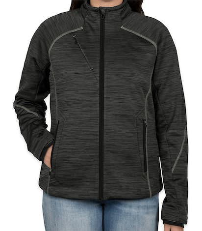 North End Women's Melange Tech Fleece Lined Jacket - Carbon / Black