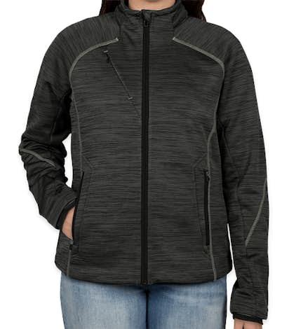 North End Women's Melange Tech Fleece Lined Jacket - Carbon / Black