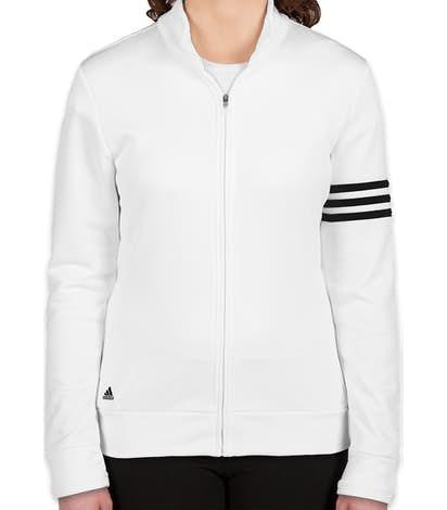 Adidas Women's ClimaLite Full Zip Performance Sweatshirt - White / Black