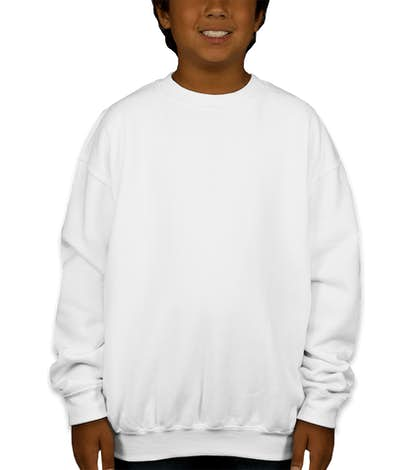 Canada - Gildan Youth Midweight 50/50 Crewneck Sweatshirt - White