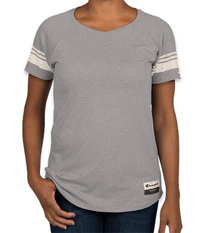 Champion Authentic Women's Tri-Blend Varsity T-shirt - Oxford Grey
