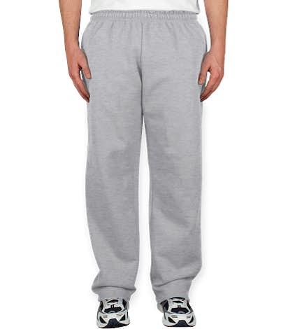 Gildan 50/50 Open Bottom Sweatpants - Ash