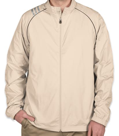 Adidas ClimaProof Three-Stripe Full Zip Jacket - Ecru / Black