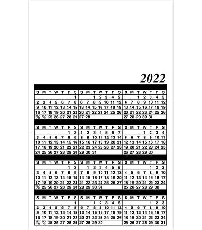 """Full Color Calendar Magnet - .019"""" - White"""