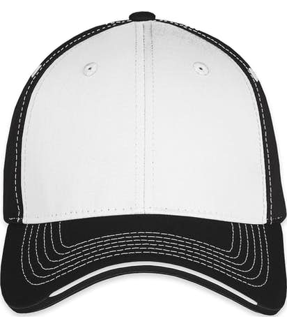 Sportsman Tri-Color Contrast Stitched Hat - White / Black