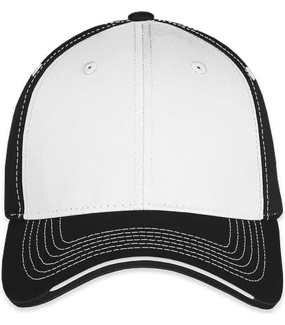 Sportsman Tri-Color Contrast Stitched Hat - White / Black