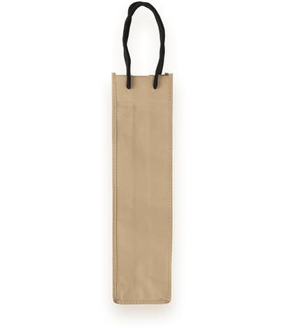 Single Bottle Non-Woven Wine Bag - Beige