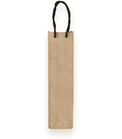 Single Bottle Non-Woven Wine Bag - Beige