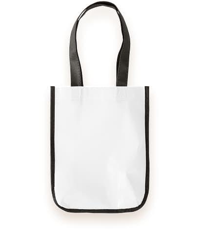Small Laminated Shopper Tote - White