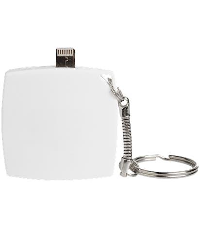 Full Color Flip Power Bank Keychain - White