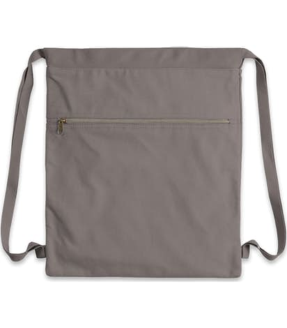 Midweight Pigment Dyed Canvas Drawstring Bag Grey