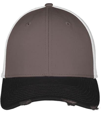 New Era Vintage Distressed Contrast Hat - Black / Graphite / White