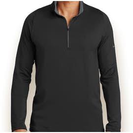 Nike Dri-FIT Stretch Quarter Zip Pullover - Color: Black / Dark Grey