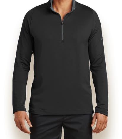 Nike Dri-FIT Stretch Quarter Zip Pullover - Black / Dark Grey