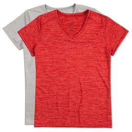 Augusta Women's Tonal Heather V-Neck Performance Shirt