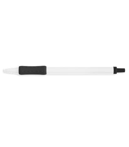 BIC Clic Stic Grip Pen (blue ink) - White / Black