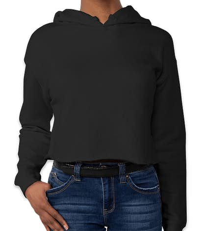 Independent Trading Women's Cropped Hoodie - Black
