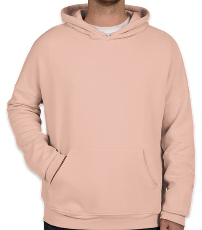 Bella + Canvas Ultra Soft Drop Shoulder Pullover Hoodie - Peach
