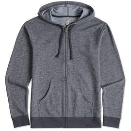 Next Level Melange Zip Hoodie