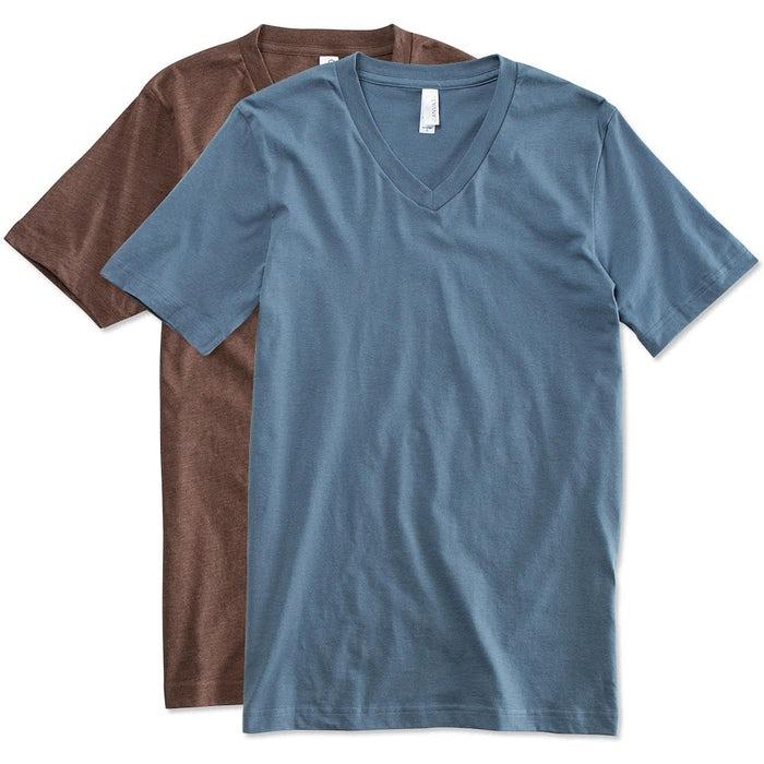 64ace59421b Custom Bella + Canvas Jersey V-Neck T-shirt - Design Short Sleeve T ...